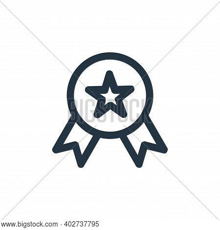 reward icon isolated on white background. reward icon thin line outline linear reward symbol for log