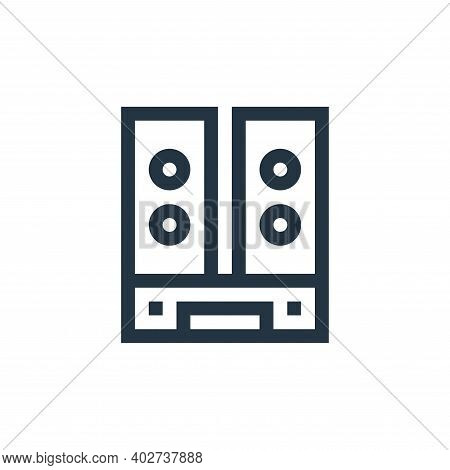 speakers icon isolated on white background. speakers icon thin line outline linear speakers symbol f