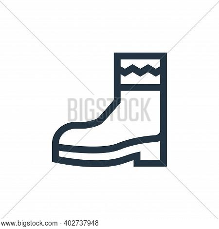 boot icon isolated on white background. boot icon thin line outline linear boot symbol for logo, web