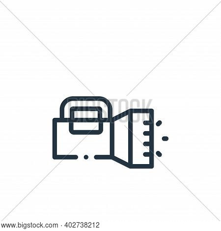 flashlight icon isolated on white background. flashlight icon thin line outline linear flashlight sy