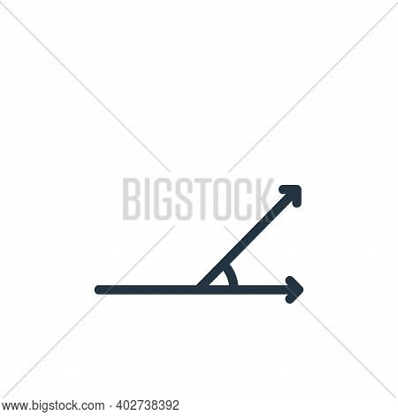 acute angle icon isolated on white background. acute angle icon thin line outline linear acute angle