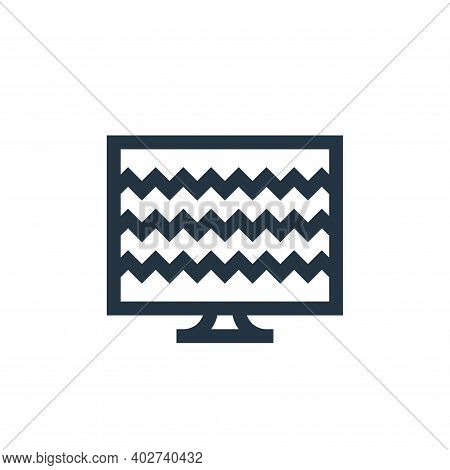 tv icon isolated on white background. tv icon thin line outline linear tv symbol for logo, web, app,
