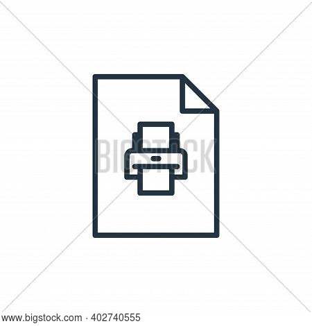 print icon isolated on white background. print icon thin line outline linear print symbol for logo,