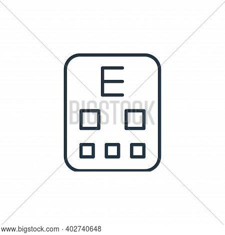 eye exam icon isolated on white background. eye exam icon thin line outline linear eye exam symbol f