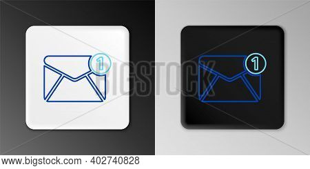 Line Envelope Icon Isolated On Grey Background. Received Message Concept. New, Email Incoming Messag