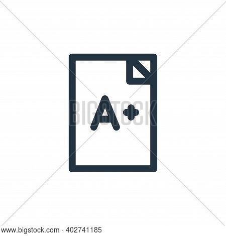 exam icon isolated on white background. exam icon thin line outline linear exam symbol for logo, web