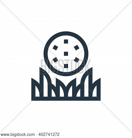 golf ball icon isolated on white background. golf ball icon thin line outline linear golf ball symbo