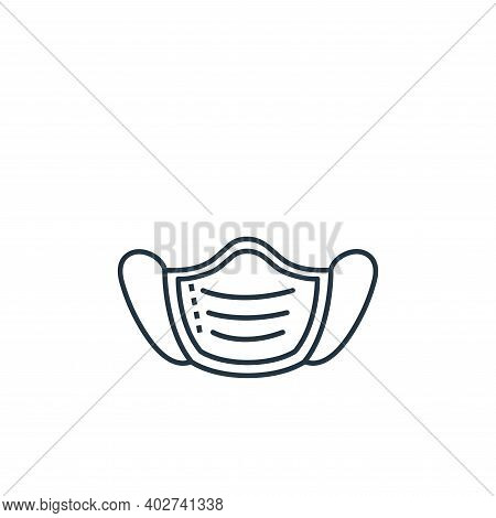 mask icon isolated on white background. mask icon thin line outline linear mask symbol for logo, web