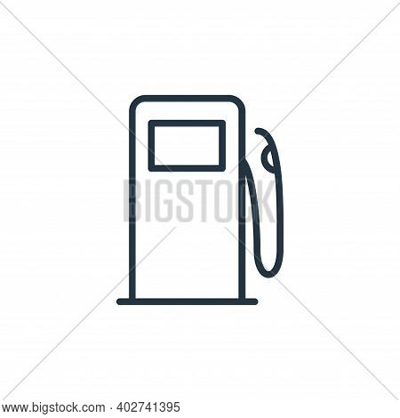 gas pump icon isolated on white background. gas pump icon thin line outline linear gas pump symbol f
