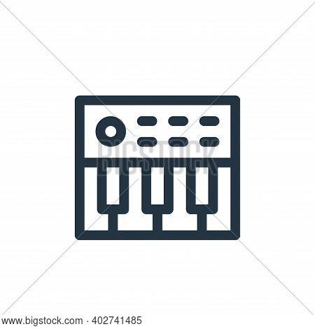 synthesizer icon isolated on white background. synthesizer icon thin line outline linear synthesizer
