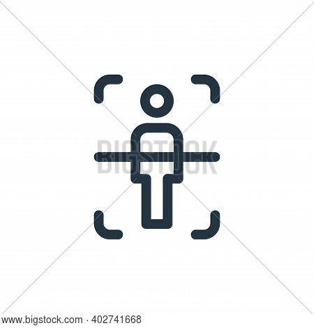 body scan icon isolated on white background. body scan icon thin line outline linear body scan symbo