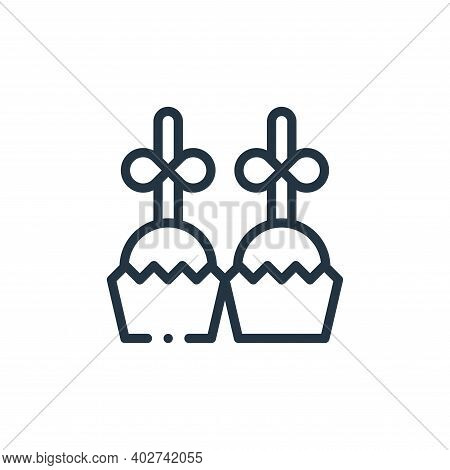 desserts icon isolated on white background. desserts icon thin line outline linear desserts symbol f