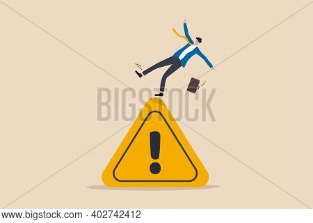Mistake Caution, Business Risk Or Problem Warning, Failure Prevention Or Avoid Danger Concept, Cauti