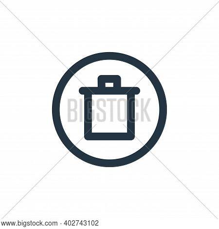 delete icon isolated on white background. delete icon thin line outline linear delete symbol for log