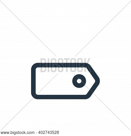 tag icon isolated on white background. tag icon thin line outline linear tag symbol for logo, web, a