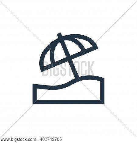 beach umbrella icon isolated on white background. beach umbrella icon thin line outline linear beach