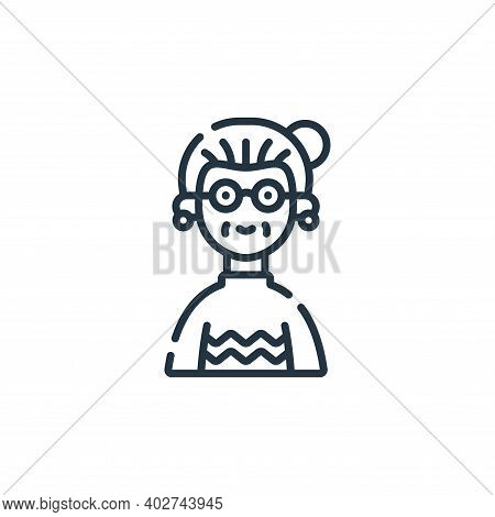 Grandma Vector Icon Isolated On White Background.