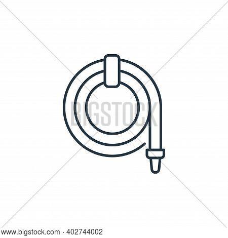 hose icon isolated on white background. hose icon thin line outline linear hose symbol for logo, web