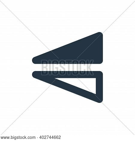 flip icon isolated on white background. flip icon thin line outline linear flip symbol for logo, web