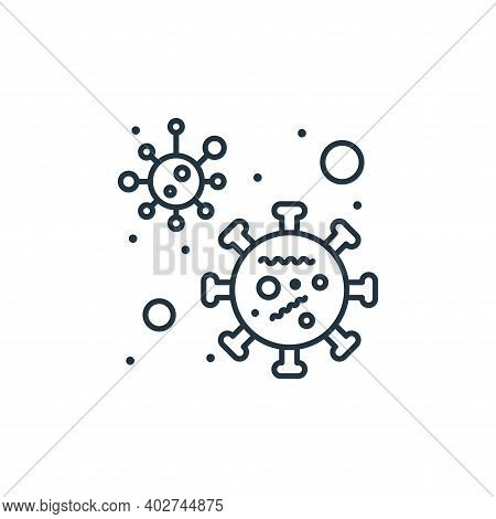 bacteria icon isolated on white background. bacteria icon thin line outline linear bacteria symbol f