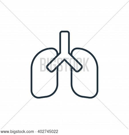 lungs icon isolated on white background. lungs icon thin line outline linear lungs symbol for logo,