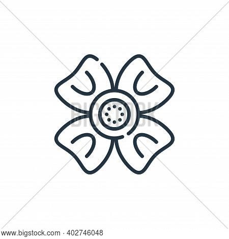 flower icon isolated on white background. flower icon thin line outline linear flower symbol for log