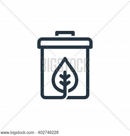 recycle bin icon isolated on white background. recycle bin icon thin line outline linear recycle bin