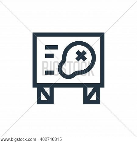 map icon isolated on white background. map icon thin line outline linear map symbol for logo, web, a