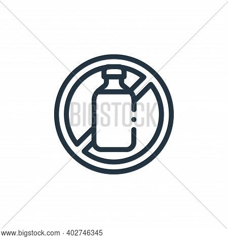 lactose free icon isolated on white background. lactose free icon thin line outline linear lactose f