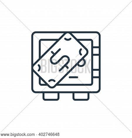 safe deposit icon isolated on white background. safe deposit icon thin line outline linear safe depo