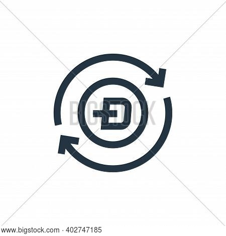 dash icon isolated on white background. dash icon thin line outline linear dash symbol for logo, web