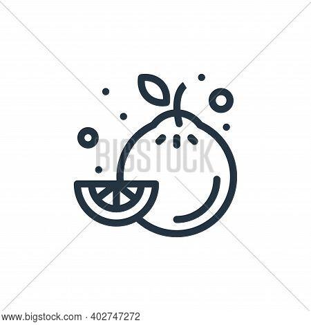 lemon icon isolated on white background. lemon icon thin line outline linear lemon symbol for logo,