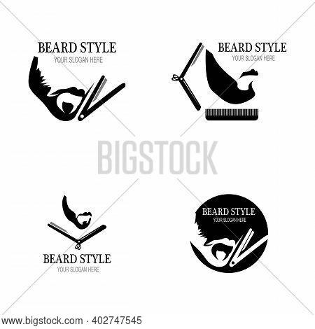 Beard Style Logo Design Vector Template Illustration