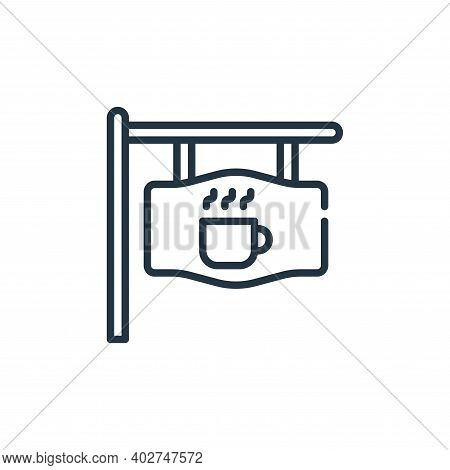coffee shop icon isolated on white background. coffee shop icon thin line outline linear coffee shop