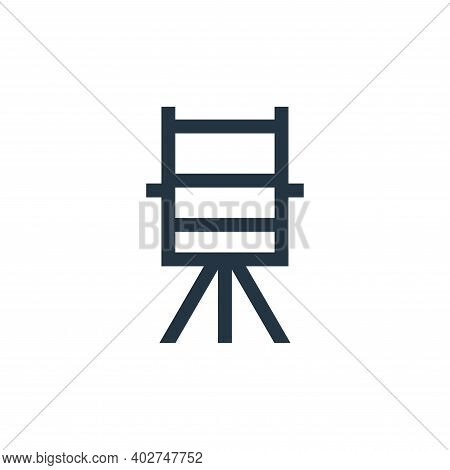 directors chair icon isolated on white background. directors chair icon thin line outline linear dir