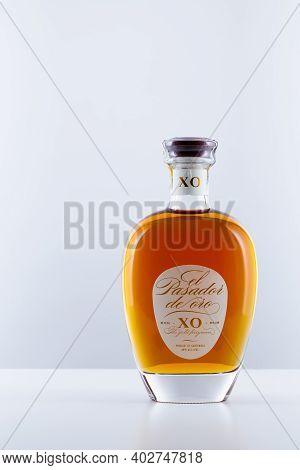 Prague,czech Republic - 10 January,2021: Bottle Of El Pasador De Oro.the Rum Is A Blend Of Molasses