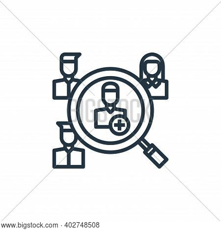 human resources icon isolated on white background. human resources icon thin line outline linear hum