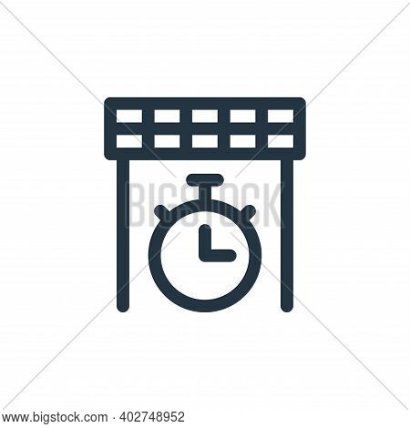 finish line icon isolated on white background. finish line icon thin line outline linear finish line
