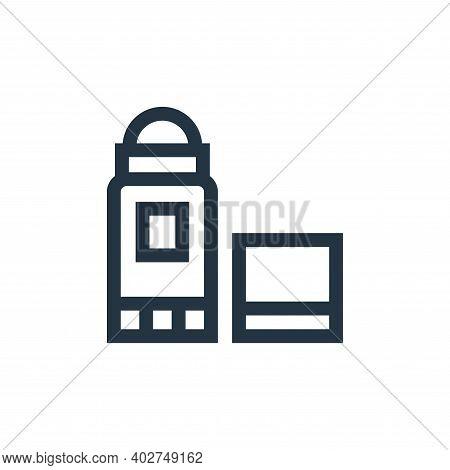 deodorant icon isolated on white background. deodorant icon thin line outline linear deodorant symbo