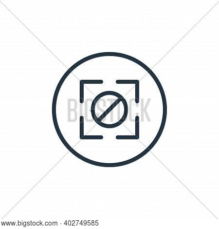 camera icon isolated on white background. camera icon thin line outline linear camera symbol for log