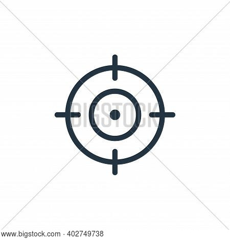 target icon isolated on white background. target icon thin line outline linear target symbol for log