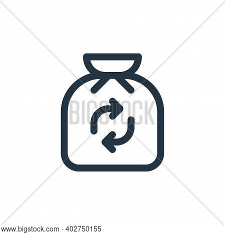 trash icon isolated on white background. trash icon thin line outline linear trash symbol for logo,