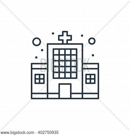 hospital icon isolated on white background. hospital icon thin line outline linear hospital symbol f