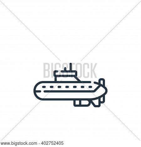 submarine icon isolated on white background. submarine icon thin line outline linear submarine symbo