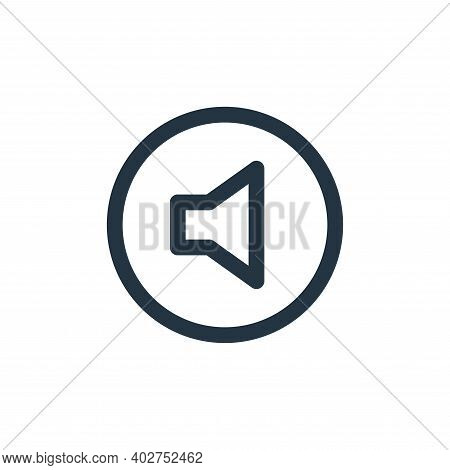 volume icon isolated on white background. volume icon thin line outline linear volume symbol for log