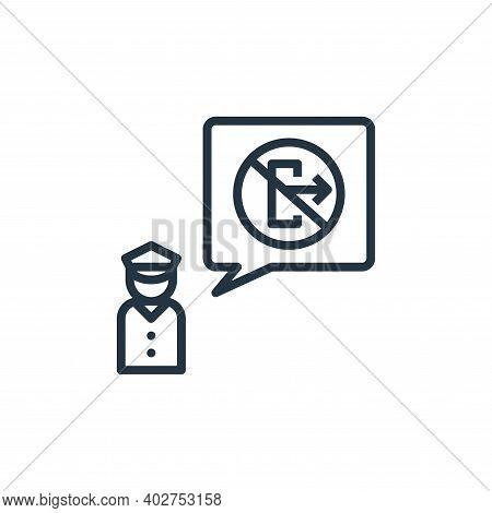 authority icon isolated on white background. authority icon thin line outline linear authority symbo