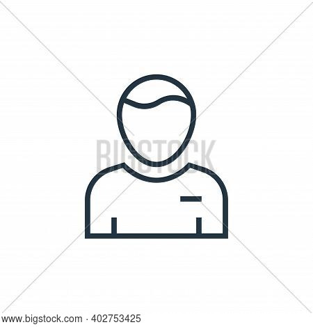 student icon isolated on white background. student icon thin line outline linear student symbol for