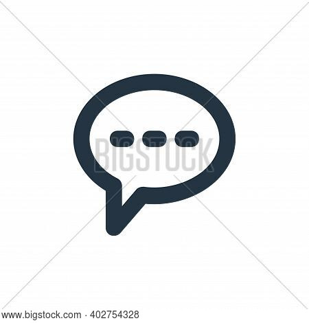 chat bubbles icon isolated on white background. chat bubbles icon thin line outline linear chat bubb
