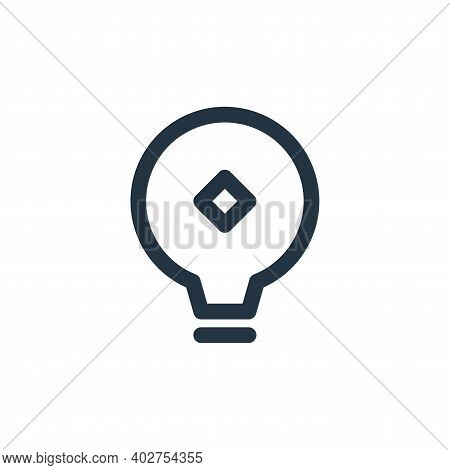 bulb icon isolated on white background. bulb icon thin line outline linear bulb symbol for logo, web