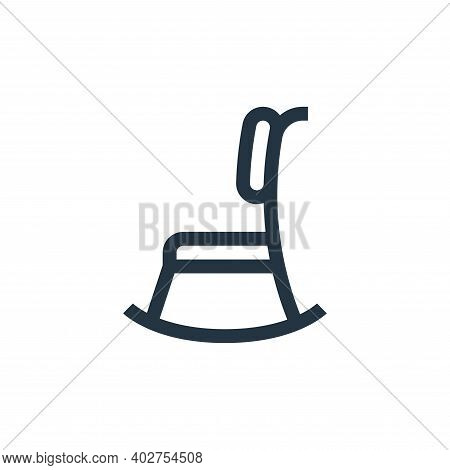 rocking chair icon isolated on white background. rocking chair icon thin line outline linear rocking